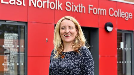 Dr Catherine Richards, principal of East Norfolk Sixth Form College in Gorleston. Picture: James Bas