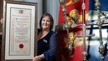 Honorary Freedom of the Borough presentation to Aileen Mobbs at Great Yarmouth Minster. Picture: Jam