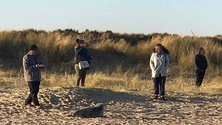 A group of people who approached a seal on Winterton beach have been labelled 'inconsiderate'. Pictu