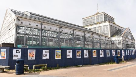 The 80-metre long display, surrounding the Grade II-listed Winter Gardens, on South Beach Parade, fe