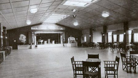 Part of the ballroom in Gorleston Super Holiday Camp, used postwar as a roller-skating rink off-seas