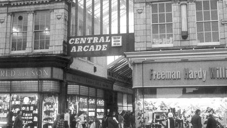 A flashback picture of Great Yarmouth's Central Arcade. The name was changed to Victoria Arcade in 1
