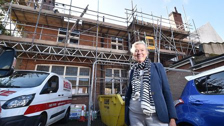 Renovation of 11, Queen Street in Great Yarmouth. Gillian Harwood.Picture: ANTONY KELLY