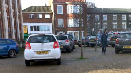 The amount of cars parked around St George's Theatre and Christchurch in Great Yarmouth is drawing c