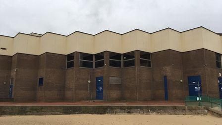 Great Yarmouth Marina Centre is being prepared for demolition. The pool has been emptied and a timet