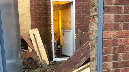 Police are investigating a cannabis farm on Howard Street in Great Yarmouth. Picture: Daniel Hickey.