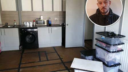 Andrew Burley's claims that his half-finished kitchen has a single socket, a fridge-freezer is plugg