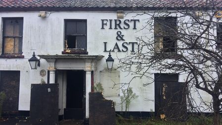 The former First and Last pub in Ormesby was damaged in a fire on December 5. Picture: Daniel Hickey