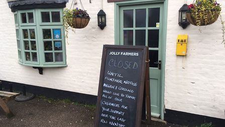 The Jolly Farmers in Ormesby St Margaret has shut suddenly Picture: Liz Coates