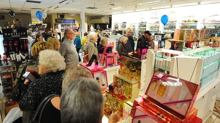Palmers department store in Great Yarmouth offering a 20% discount at its Christmas Party.A busy per