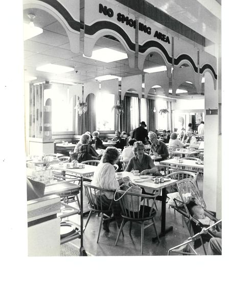 The Palmers coffee shop in October 1985. The popular meeting place closed on Saturday, March 7. The