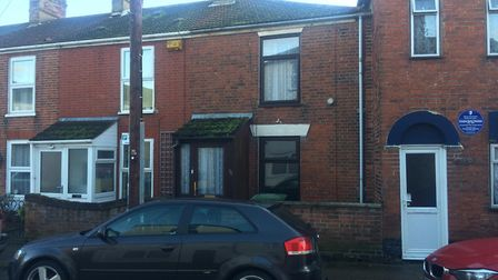 A house on South Market Road in Great Yarmouth that was labelled 'dangerous' after a borough council
