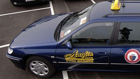 A fleet of cabs from Anglia Taxis pictured in 2006. Photo: Bill Darnell.