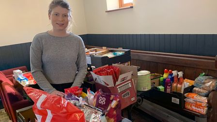 Taila Taylor is taking donations of essential supplies at her family's pub, The London Tavern in Att