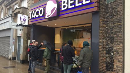 The opening of the new Taco Bell in Regent Road, Great Yarmouth.
