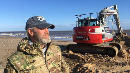 Lance Martin's efforts to protect his clifftop home in The Marrams, Hemsby look to have paid off aft