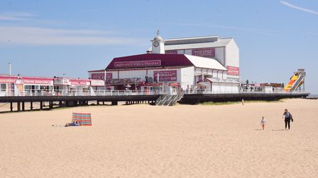Great Yarmouth beach from the pier. PHOTO: Sonya Duncan