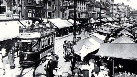 Yarmouth Market Place and its history is among tours being offered by GYBC and its guides online Pic