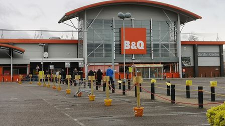 B&Q re-opens after closing because of coronavirus. Pictures: BRITTANY WOODMAN