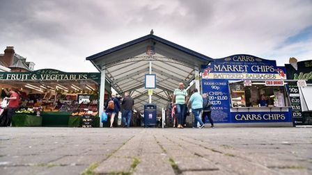 The Market Place in Great Yarmouth. Picture: Antony Kelly