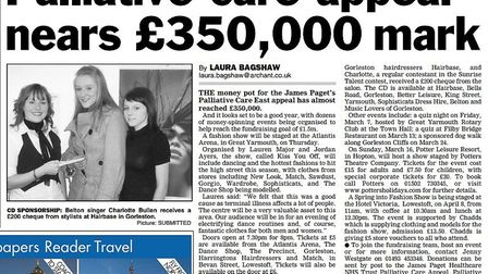 The Great Yarmouth Mercury appeal to help the James Paget Hospital raise £1.5m for palliative care.