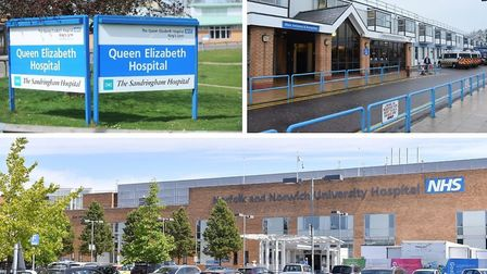 Over 130 coronavirus deaths have been announced at the Queen Elizabeth, James Paget and Norfolk and