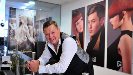 Kevin Huggins from Fusion Hair Consultants, Gorleston. Photo: Nick Butcher