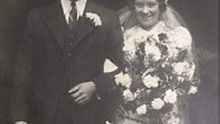 Florence Fisher and her husband Robert, pictured on their wedding day. Photo: Lisa Moore
