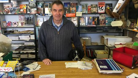 Roger Webster, 67, owns and runs Music Lovers, a record store on Gorleston's High Street. Picture: D