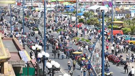 Thousands of people usually come to the Wheels Festival, held in Great Yarmouth in July. Picture: Ja