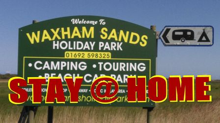Waxham Sands has reiterated its 'Keep Away' Facebook message in light of the weekend's events, which