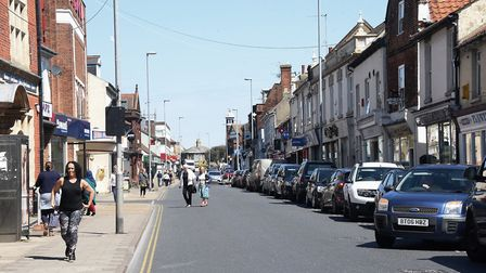 A one-way system and parking ban is coming to Gorleston High Street. Picture: DENISE BRADLEY