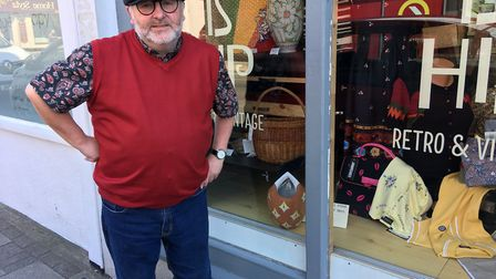 Richard Routledge owns What is Hip, a retro clothing store on Gorleston's High Street. His son Mark