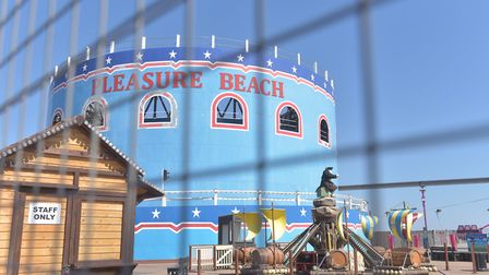 Pictures from the Lock Down 2020. A closed Pleasure beach Great Yarmouth. Pictures: BRITTANY WOODMAN