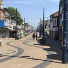 The centre of Great Yarmouth resembled a ghost town on the hottest day of the year as its market pla