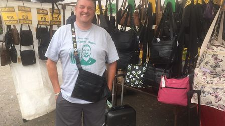 Alan Pitt had an enjoyable first day back on Great Yarmouth market on Wednesday June 3 after lockdow