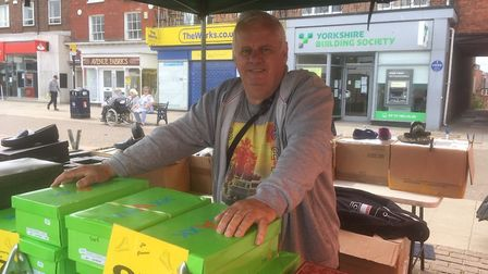 Great Yarmouth market was 'busier than expected' for trader Keith Barber, back at his pitch for the