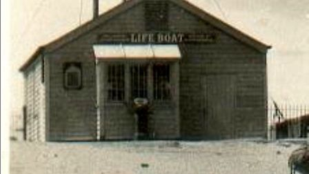 The lifeboat shed at Caister which was built in 1887 and washed away in storms in 1943. It was the s