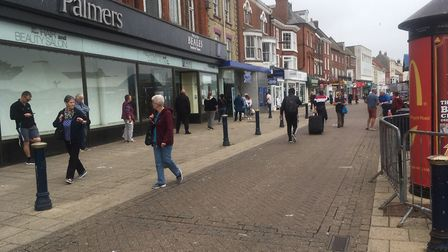 Great Yarmouth was busier than it has been for months on June 15 as non-essential shops reopened Pic