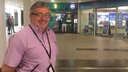 Market Gates manager Nick Spencer was heartened to see a good number of shoppers in the mall on the