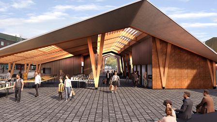 A visualisation of the Great Yarmouth Market Place redevelopment. PHOTO: Great Yarmouth Borough Coun
