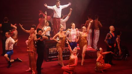Many of the acts taking part in the opening sequence of the Hippodrome Circus Summer Show at Great Y
