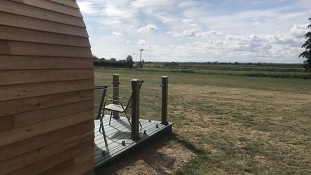 New glamping pods in Runham have uninterrupted views of the mill-dotted Norfolk landscape. They are