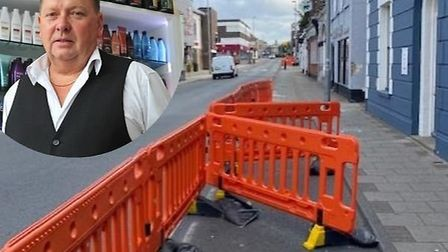 """Chairman of Gorleston Traders Association Kevin Huggins, inset, has expressed """"relief"""" after barrier"""