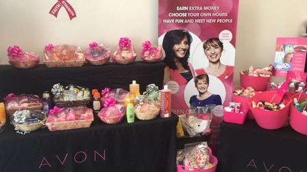 Inside Jayne Davidson's Avon shop in Regent Road. She has committed to three years in the store in G