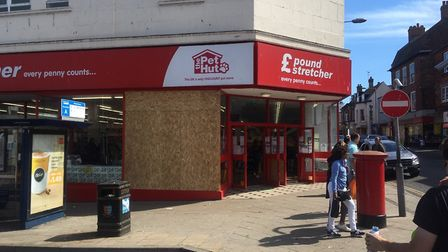 The windows of the Poundstretcher store in Great Yarmouth were smashed on Sunday night. A man was ar