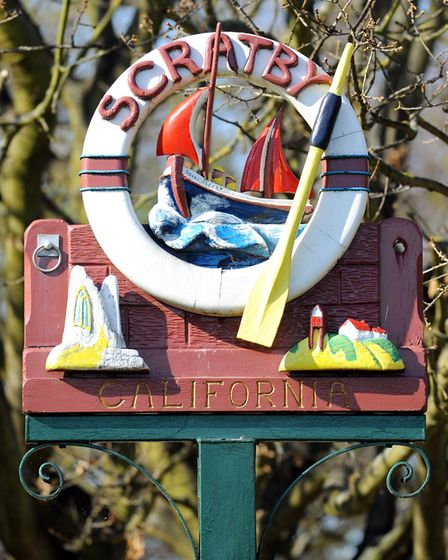 Scratby and California village sign.Picture: James Bass