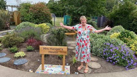 Lindsay Hanger, 61, on the day of her retirement as headteacher at Northgate Primary School in Great