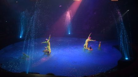 FLASHBACK: The show dancers in the water at the Hippodrome Circus Summer Show at Great Yarmouth. Aft