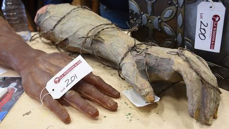 Iron Maiden's Eddie hands which are in the auction selling props, sets and equipment as 3D Creations